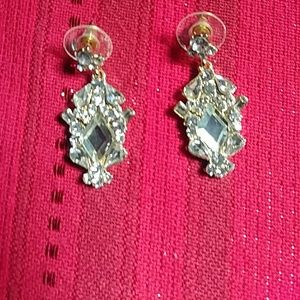 "Jewelry - Small ""Vintage"" Dangle Rhinestone Earrings"